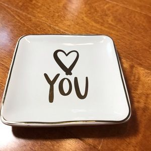 Love you ring dish. Ring holder.